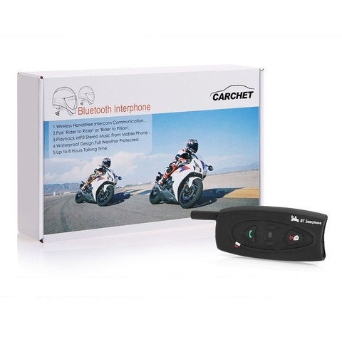 Intercomunicador Bluetooth Kit Mano Libres Stereo Casco Moto - comprar online