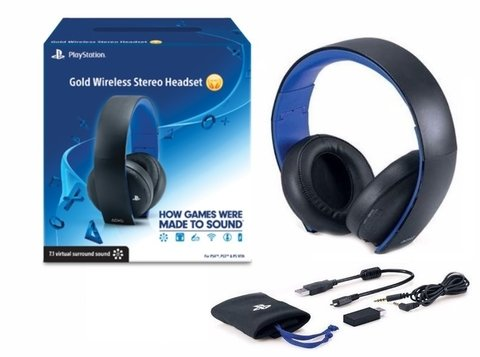 Auricular Sony Ps4 Ps3 Gold Wireless 7.1 Headset Inalambrico