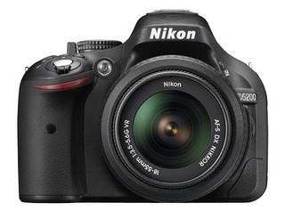 Camara Digital Nikon Reflex D5200 18-55 mm Vr 24mpx Full Hd