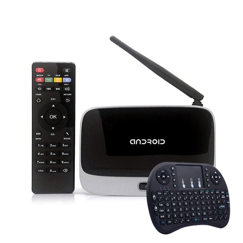 Tv Box + Control Smart Tv Android Peliculas Cs918 + Teclado