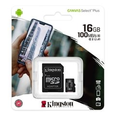 Memoria Kingston Micro Sd 16gb Canvas Select Plus 100mbs A1