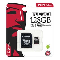 Memoria Micro SDXC 128gb Kingston Clase 10 Canvas Select