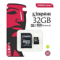 Memoria Micro SDHC 32gb Kingston Clase 10 Canvas Select