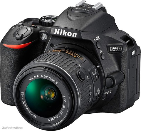 Camara Digital Nikon D5500 Kit 18-55mm Vr 24,2 Mp Full Hd