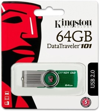Pendrive Kingston 64gb Dt101 G2 Original Usb 2.0