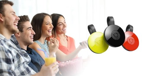 Google Chromecast Hdmi Streaming Media Player Lcd Nuevos!! en internet