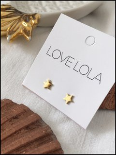 AROS MINI STARS GOLD LOVE LOLA