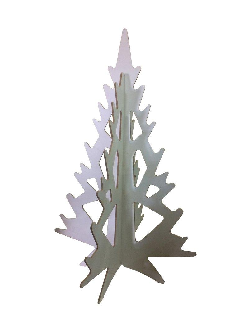 Rbol de navidad alto merry en melamina color blanco - Arbol de navidad blanco ...