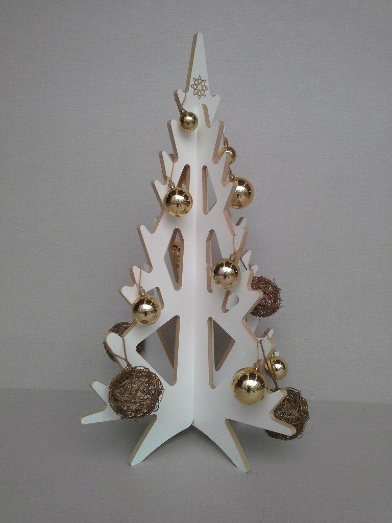 Rbol de navidad merry en melamina color blanco - Arbol de navidad en blanco ...