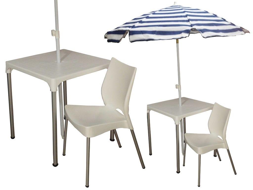 Combo mesa lupe 2 sillas malba para exterior con patas for Muebles de exterior aluminio