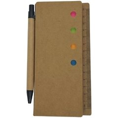 Eco Libreta  4 Post-it chicos 1 Post-it grande con boligrafo y regla - comprar online