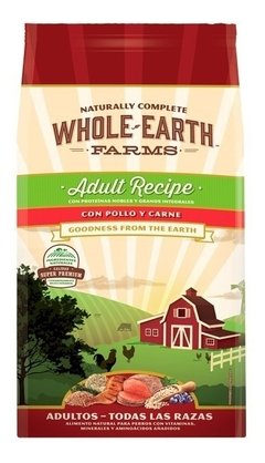 Alimento Natural Whole Earth Farms Pollo Y Carne Adult 12 Kg