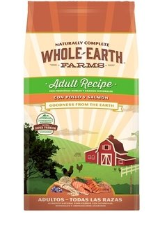 Alimento Natural Whole Earth Farms Pollo Y Salmon Ad X12 Kg
