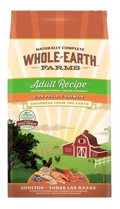 Alimento Natural Whole Earth Farms Pollo Y Salmon Ad X 7.5 K