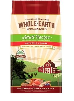 Alimento Natural Whole Earth Farms Pollo Y Carne Adul 7.5 Kg