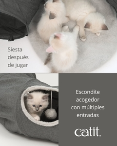 Tunel Para Gatos Cat It Vesper Gris en internet