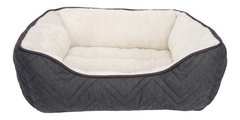 Cama Rectangular Cuddle Bed, Gray/white  Med. 60 X 51 X 23
