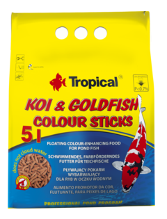 Alimento Koi Y Goldfish Colour Sticks X 800 Grs ''Tropical""
