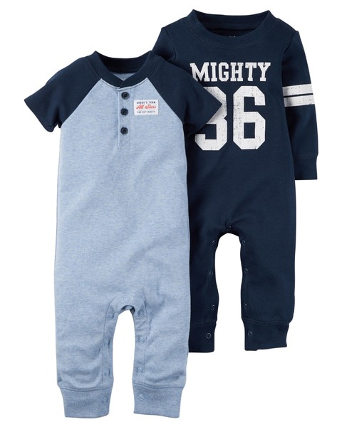 6M Dois Macacões Carter - Mighty - 6 Meses