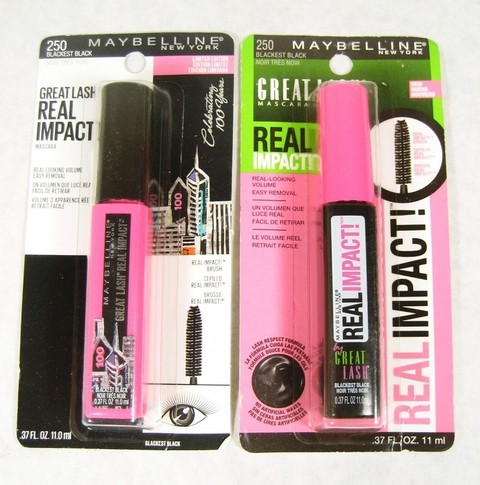 MAYBELLINE - GREAT LASH® REAL IMPACT COR: 250 BLACK na internet