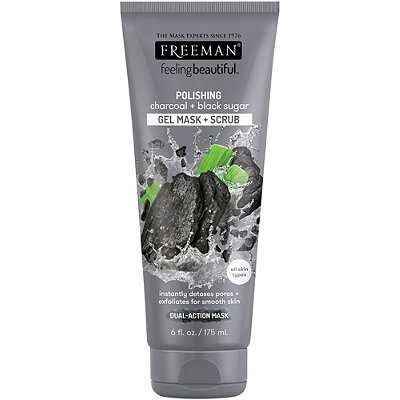Máscara Facial Freeman - CHARCOAL + BLACK SUGAR - GEL MASK + SCRUB - All Skin/Todas as Peles 175ml