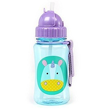 Garrafinha Zoo Straw Bottle Skip Hop Unicornio (Eureka Unicorn) 350ml