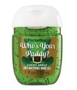 Álcool em gel Pocketbac - who's your paddy? luck apple - Bath & Body Works 29ml na internet