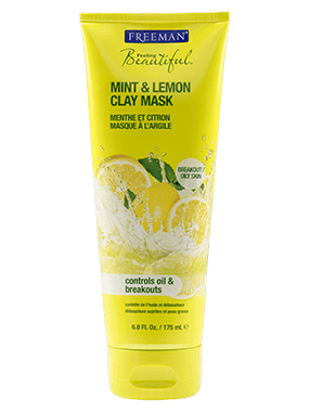 Máscara Facial Freeman - Mint & Lemon Clay/Menta, Limão e Argila - Oil Skin/Pele Oleosa 175ml na internet