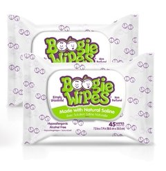 Boogie Wipes Simply Unscented sem perfume - 2 unidades 45 cada. Total 90 - comprar online