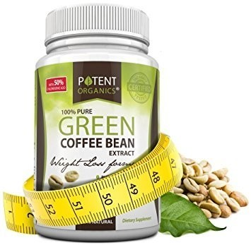 Potent Organics - 100% Pure Green Coffee Bean Extract –  60 Caps