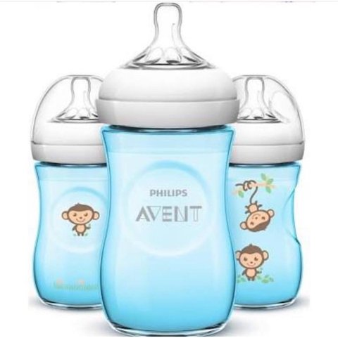 Kit 3 Mamadeiras Philips Avent 260ml bico Pétala