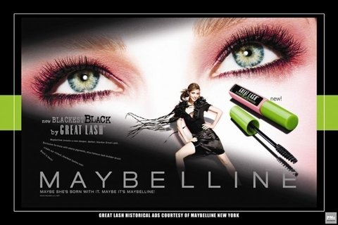 MAYBELLINE GREAT LASH Cor: 100 Black - LuckEnjoy