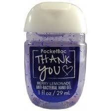 ÁLCOOL EM GEL - BERRY LEMONADE THANK YOU - BATH AND BODY WORKS - 29ML
