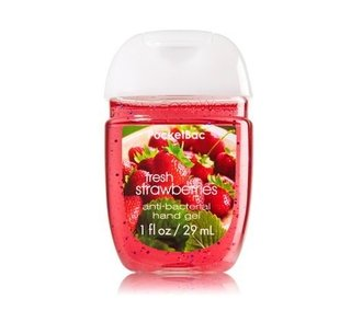 Álcool em gel Pocketbac Fresh Strawberries Bath & Body Works 29ml