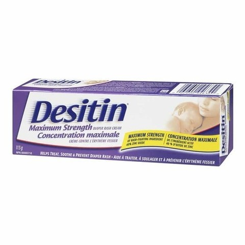 Pomada Desitin Maximum Streght Roxa 113g Assadura Bisnaga