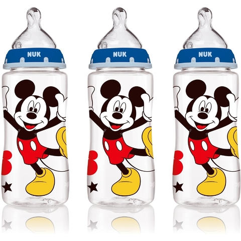Kit de 3 mamadeiras Wide Neck - Nuk - Disney - Mickey