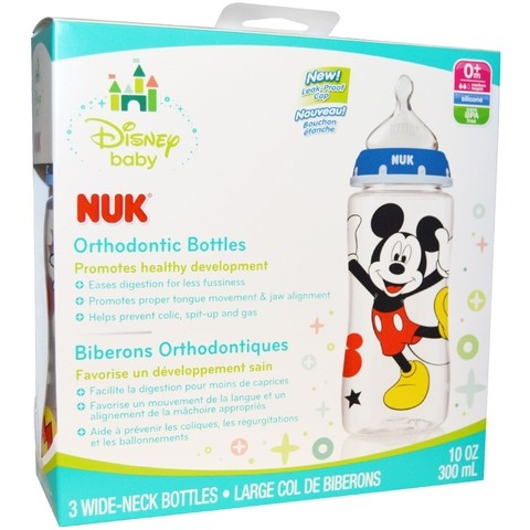 Kit de 3 mamadeiras Wide Neck - Nuk - Disney - Mickey - comprar online