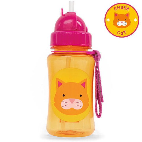 Garrafinha Zoo straw bottle Skip Hop Chase Cat 350ml