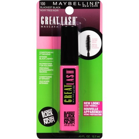 MAYBELLINE GREAT LASH Cor: 100 Black - comprar online