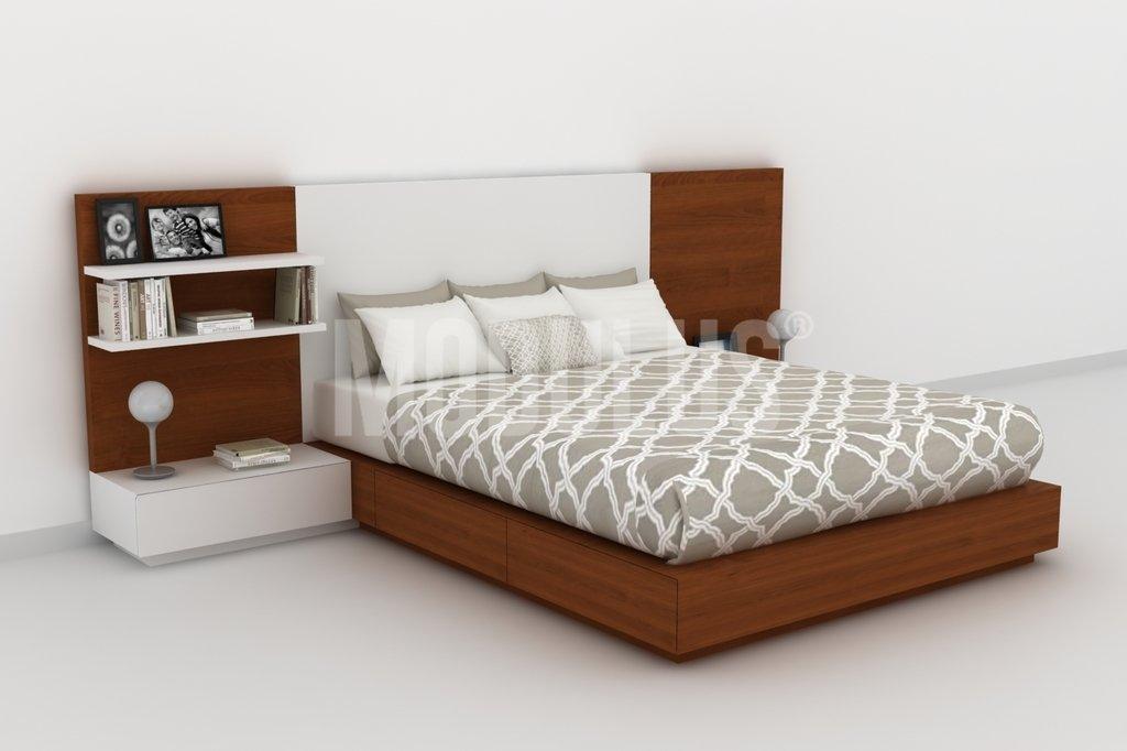 Juego de dormitorio enchapado en madera dise o moderno for Dormitorios madera modernos