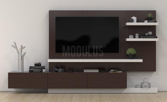 Muebles para tv modernos con biblioteca large size of for Muebles modernos para living