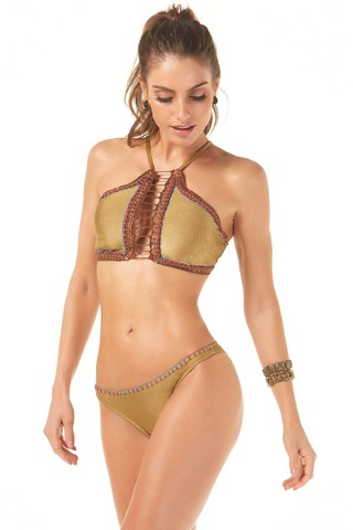 BIQUÍNI FANY CROPPED CROCHET 737152 - New Beach na internet