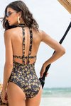 body high neck preto estampado anastacia 4010 larissa minatto - comprar online