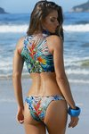 biquini cropped ziper tropical iara 52370 belles praia - buy online