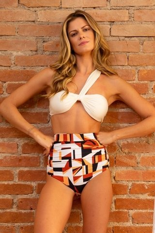 biquini hot pants estampado perola laura floor bronze B2081 salt sun & bikinis