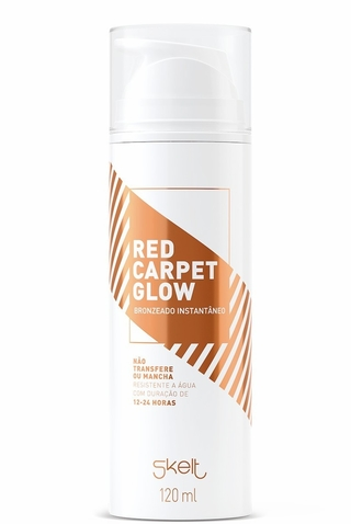 bronzeador instantâneo red carpet glow 120ml - skelt