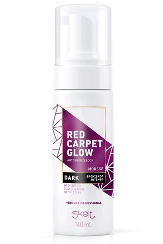 autobronzeador em mousse dark red carpet glow 140ml - skelt