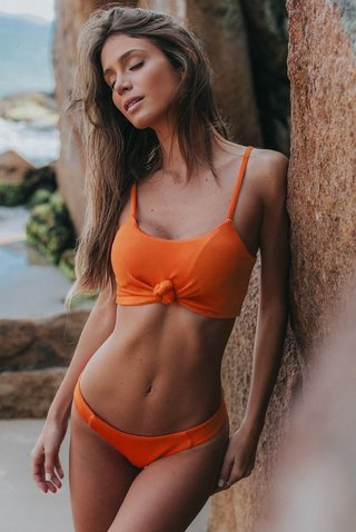 biquini cropped coral canelado tabata HB160 hy brasil