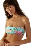 top bandeau estampado hibiscos levemente 111238 blueman
