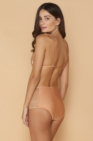 biquini ciganinha hot pants hot fix cantaloupe 1074 mos